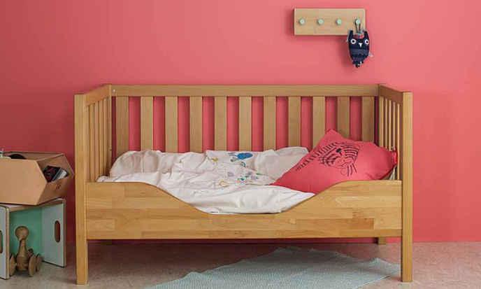 Gitterbett in Buche, geölt und gewachste Oberfläche